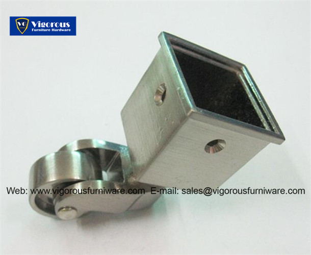 Charmant Silver Metal Casters Square Cup Caster For Sofa Legs Nickel Plating MC 4
