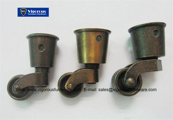 Vintage brass furniture casters metal wheels for sofa legs MC-7 - Vintage Brass Furniture Casters - Vigorousfurniware.com