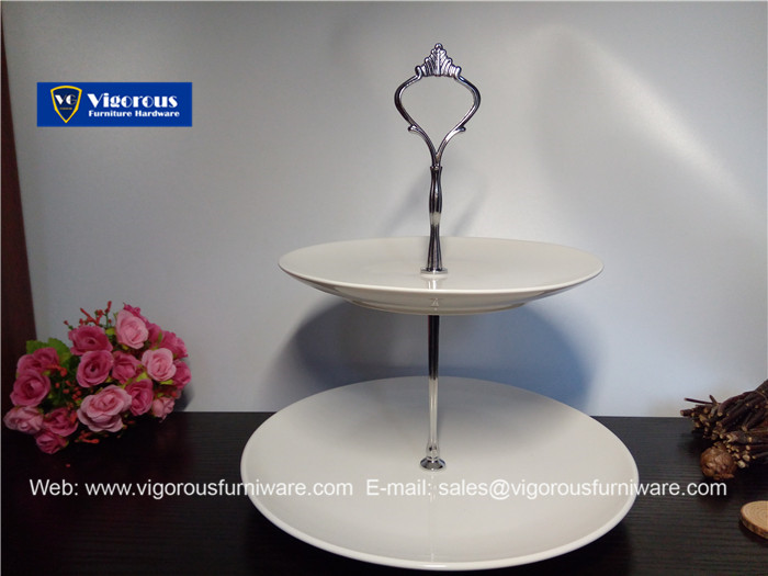 Cake tier hardware Two tier cake stand hardware silver crown fittings CS-20 & Cake stand handle - vigorousfurniware.com