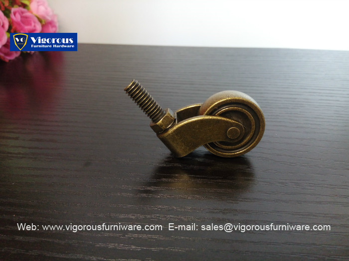 Brass Caster With Solid With Brass Fork